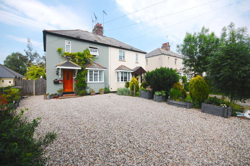 3 Bedrooms Semi Detached House for sale in Woods Road, Ford End, Nr Gt Waltham, Chelmsford, CM3
