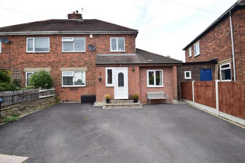 3 Bedrooms Semi Detached House for sale in Slater Crescent, Wirksworth
