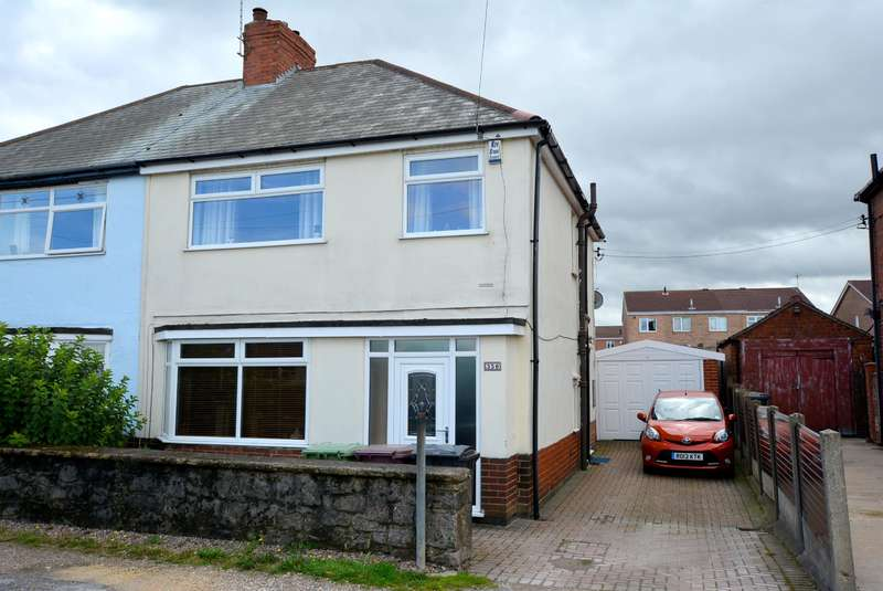 3 Bedrooms Semi Detached House for sale in Williamthorpe Road, North Wingfield, Chesterfield, S42 5NS