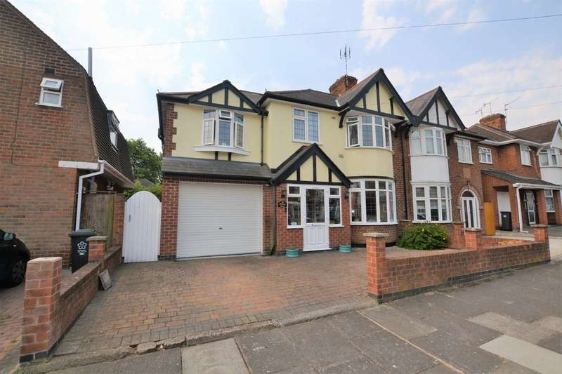 5 Bedrooms Semi Detached House for sale in Barton Road, Leicester LE3