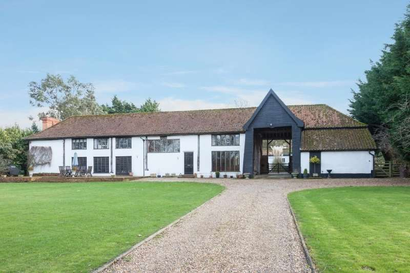 5 Bedrooms Barn Conversion Character Property for sale in The Leys, Topcroft Lane, Topcroft, Bungay, Norfolk
