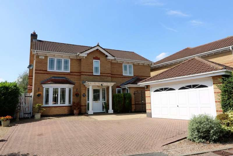 4 Bedrooms Detached House for sale in Adcock Close, Melton Mowbray