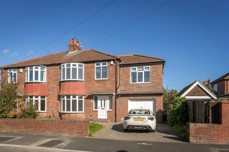 5 Bedrooms Semi Detached House for sale in Leyburn Drive, High Heaton, Newcastle upon Tyne