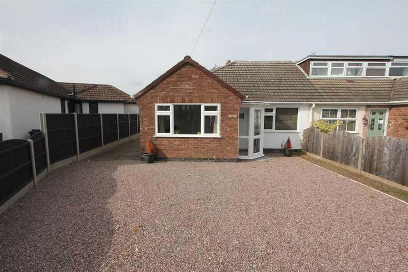 2 Bedrooms Semi Detached Bungalow for sale in Spinney Road, Burbage