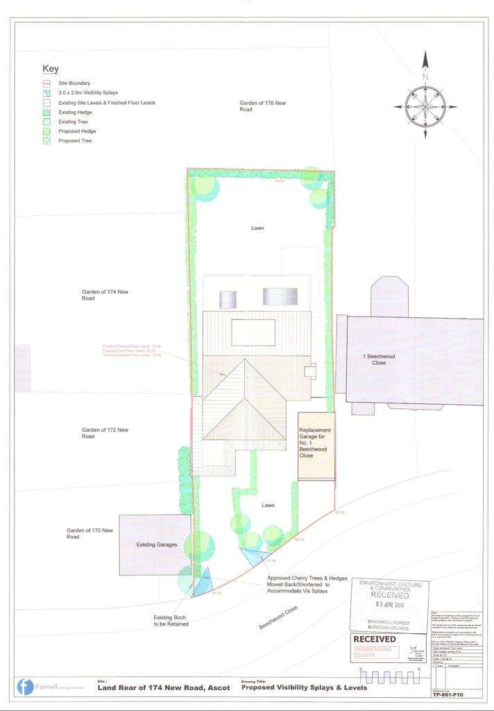 3 Bedrooms Plot Commercial for sale in ASCOT. BUILDING PLOT FOR DETACHED HOME