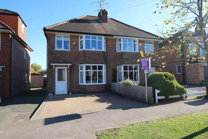 3 Bedrooms Semi Detached House for sale in Parklands Drive, Loughborough