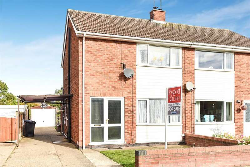 3 Bedrooms Semi Detached House for sale in Rudgard Avenue, Cherry Willingham, LN3