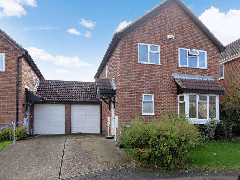 4 Bedrooms Detached House for sale in Goldcrest Close, Luton