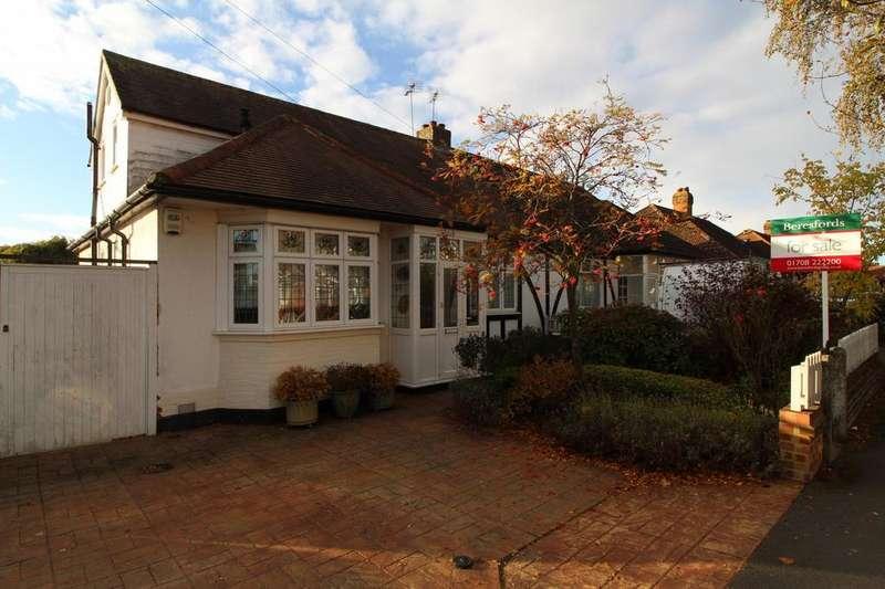 3 Bedrooms Semi Detached Bungalow for sale in Cranston Park Avenue, Upminster, Essex, RM14