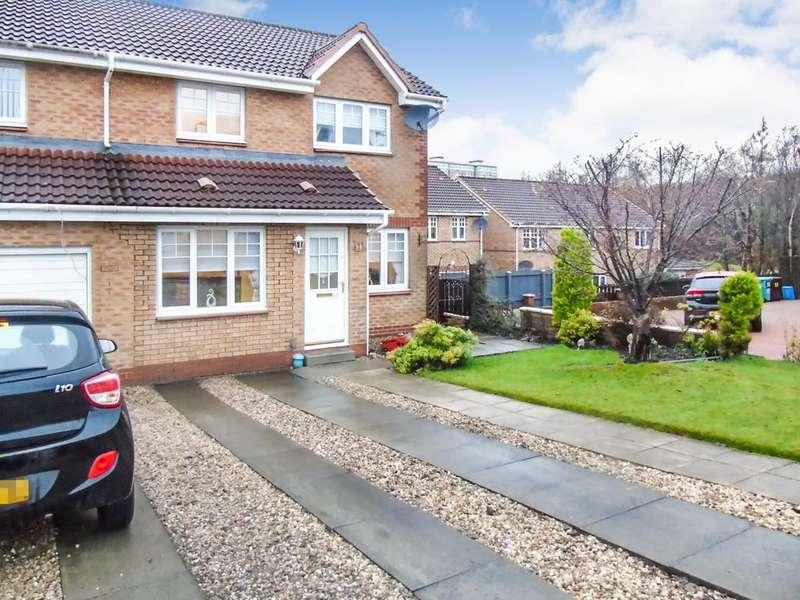 3 Bedrooms Semi Detached House for sale in Meadow Walk , Victoria Park , Coatbridge, North Lanarkshire, ML5