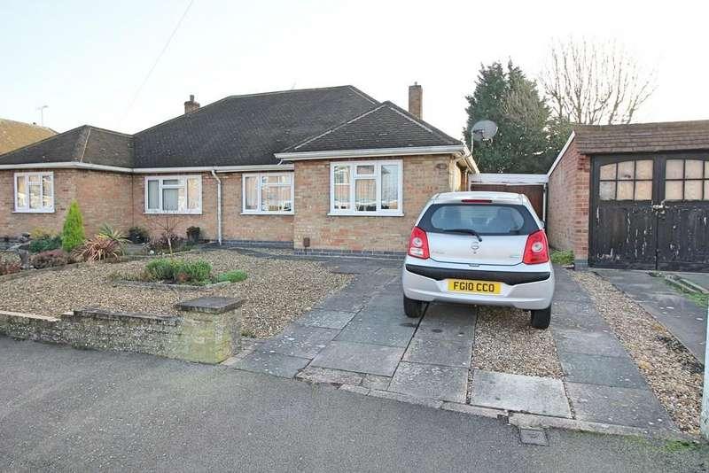 2 Bedrooms Semi Detached Bungalow for sale in Alfreton Road, Wigston