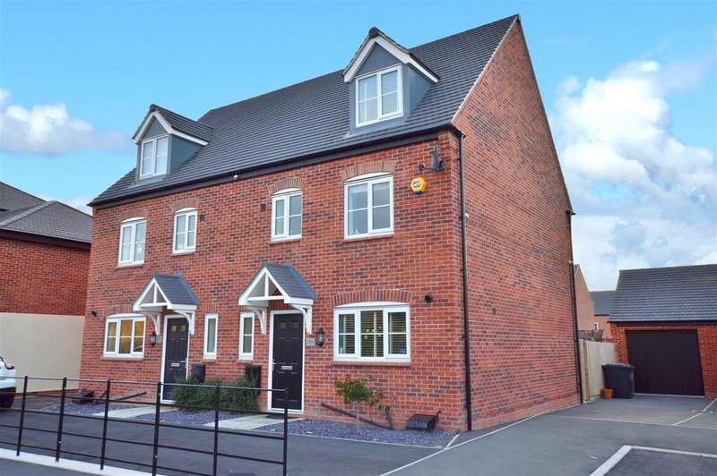 4 Bedrooms Semi Detached House for sale in Chilham Way, Boulton Moor, Derby