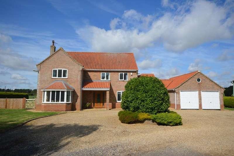 4 Bedrooms Detached House for sale in Hannover Farm, Hale Road, Holme Hale, Norfolk, IP25 7BP