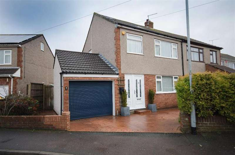 4 Bedrooms Semi Detached House for sale in Holmwood Close, Winterbourne, Bristol, BS36 1JZ