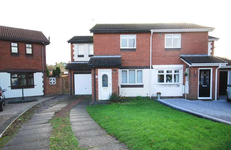 3 Bedrooms Semi Detached House for sale in Kingswood Close, Boldon Colliery