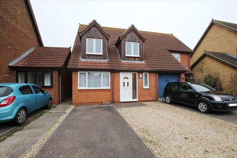 3 Bedrooms Semi Detached House for sale in Kingfisher Close, Sandy, SG19