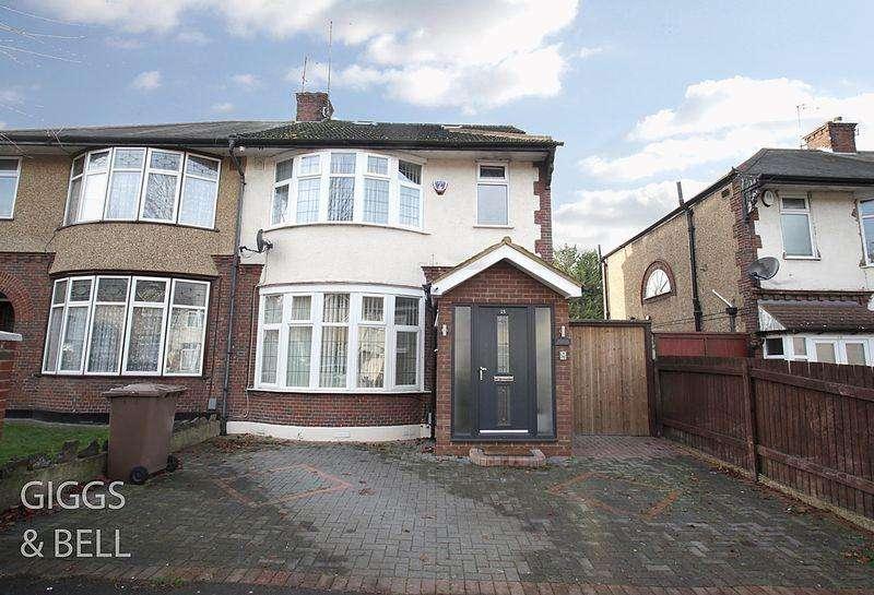 4 Bedrooms Semi Detached House for sale in St Monicas Avenue, Luton