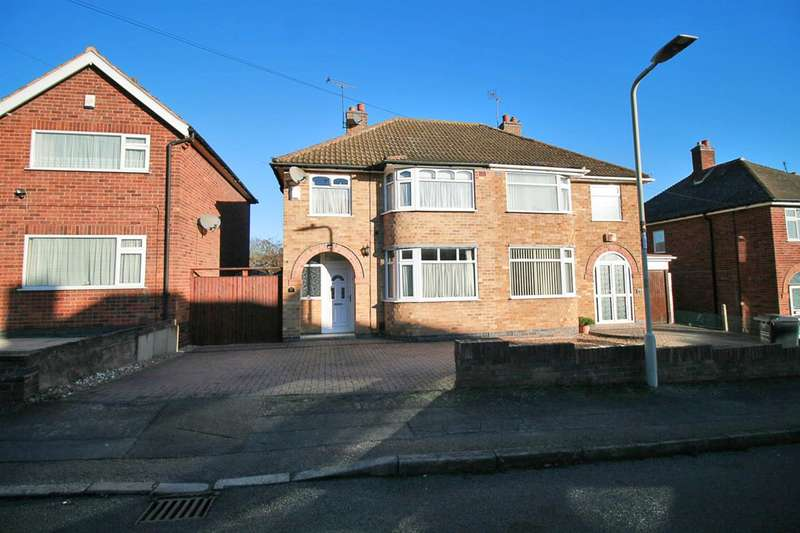 3 Bedrooms Semi Detached House for sale in Ryegate Crescent, Leicester