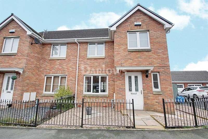 3 Bedrooms Semi Detached House for sale in Hanbury Grove, Pontypool
