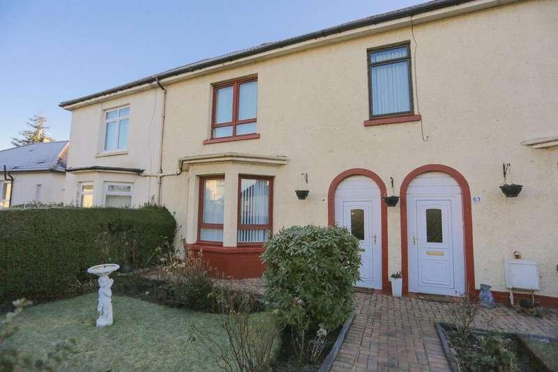 2 Bedrooms Terraced House for sale in 61 Arran Drive, GLASGOW, G52 1JR