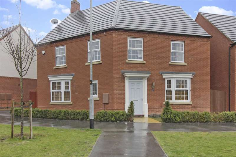 4 Bedrooms Detached House for sale in Wright Close, Whetstone, Leicester