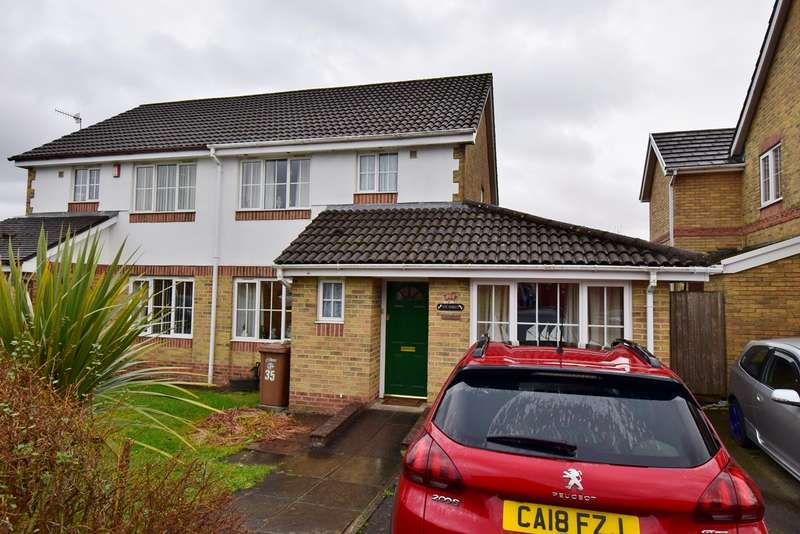 3 Bedrooms Semi Detached House for sale in High Close, Nelson, Treharris, CF46