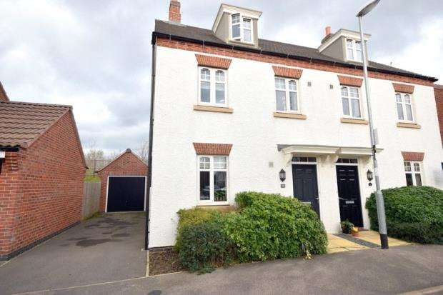 3 Bedrooms Semi Detached House for sale in Raynesford Close, Quorn, Loughborough