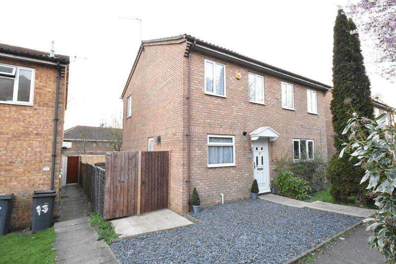2 Bedrooms Semi Detached House for sale in Falstone Green, Luton
