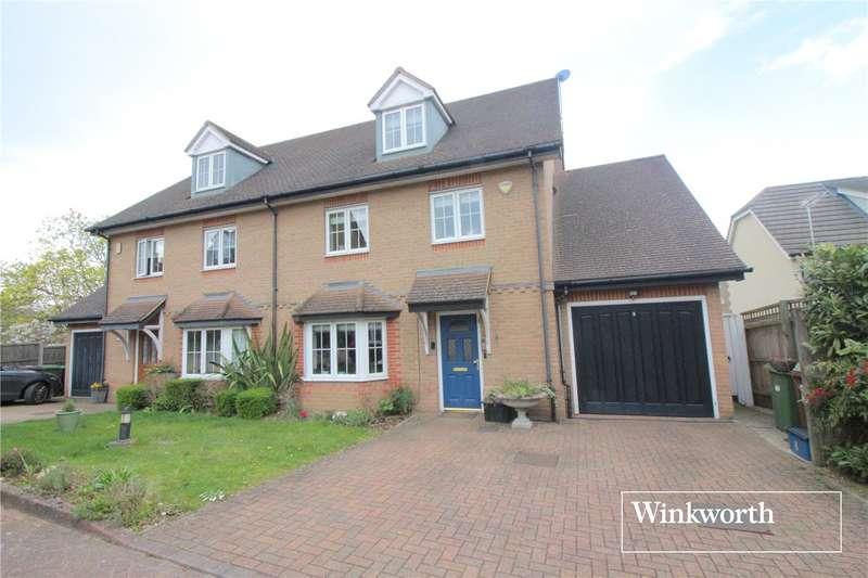 4 Bedrooms Semi Detached House for sale in Hampton Close, Borehamwood, Hertfordshire, WD6