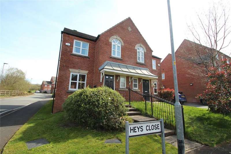 3 Bedrooms Semi Detached House for sale in Heys Close, Milnrow, Rochdale, Greater Manchester, OL16