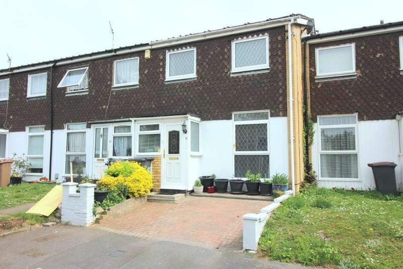 3 Bedrooms Terraced House for sale in Gregories Close, Luton, Bedfordshire, LU3 1DL