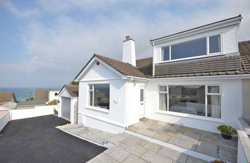 3 Bedrooms Semi Detached House for sale in Carthew Close, Porthmeor, St Ives, West Cornwall