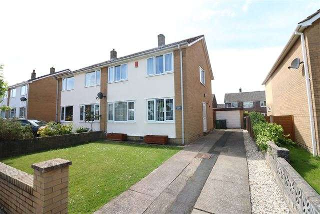 3 Bedrooms Semi Detached House for sale in Cartmel Drive, Carlisle, Cumbria, CA2 7SF