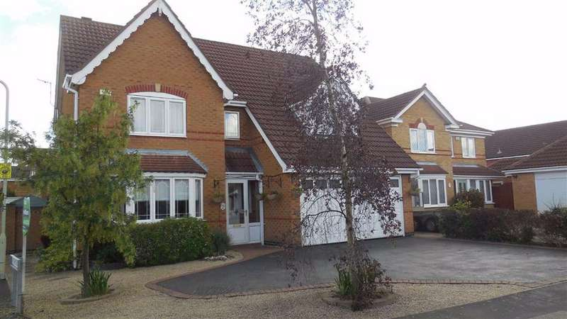 4 Bedrooms Detached House for sale in Windrush Drive, Hinckley