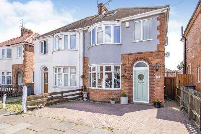 3 Bedrooms Semi Detached House for sale in Bretby Road, Leicester, Leicestershire, England
