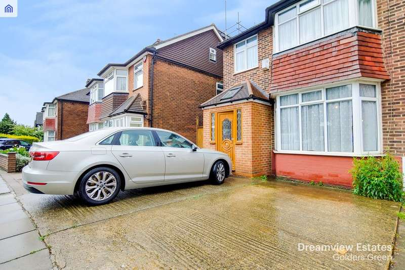 4 Bedrooms Semi Detached House for sale in THE VALE, GOLDERS GREEN BORDERS, LONDON, NW11