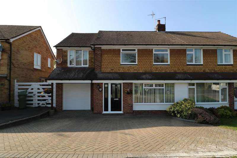 4 Bedrooms Semi Detached House for sale in Foxcombe Drive, Tilehurst, Reading