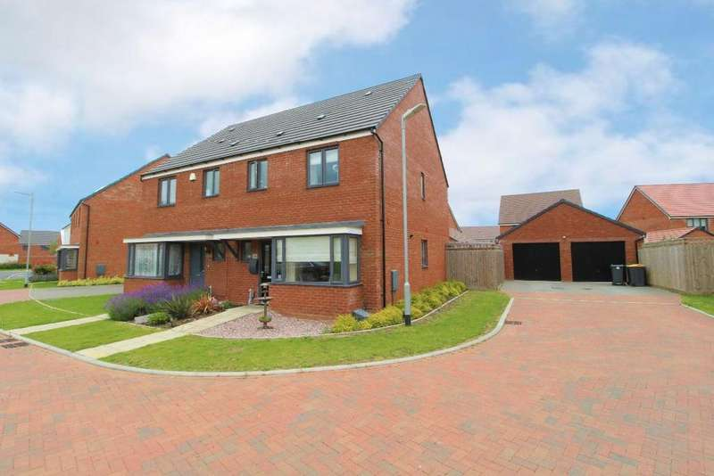 3 Bedrooms Semi Detached House for sale in Lunniss Way, Wootton, Bedfordshire, MK43
