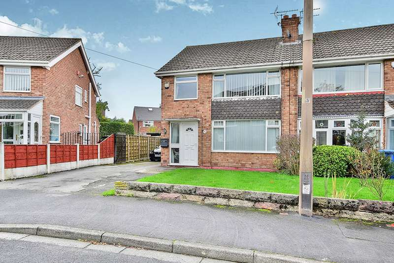 3 Bedrooms Semi Detached House for sale in Baslow Drive, Heald Green, Cheadle, Cheshire, SK8