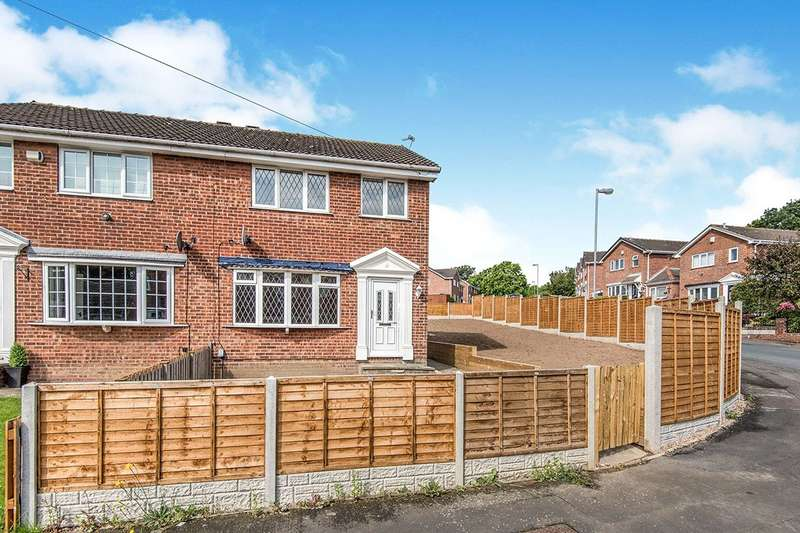 3 Bedrooms Semi Detached House for sale in Whitley Spring Crescent, Ossett, West Yorkshire, WF5