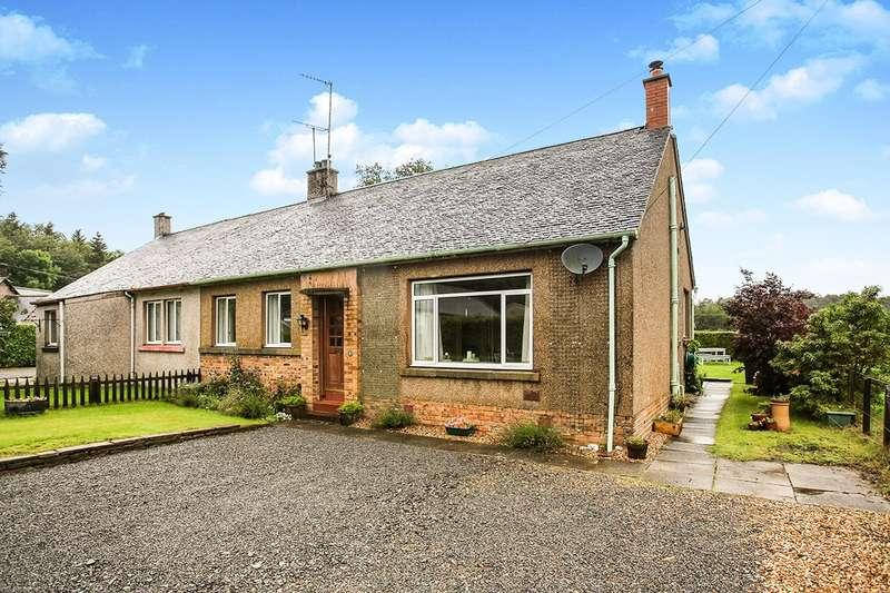 3 Bedrooms Semi Detached Bungalow for sale in Waulkmill Park, Carronbridge, Thornhill, Dumfriesshire, DG3