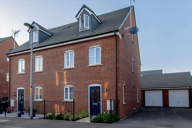 4 Bedrooms Semi Detached House for sale in Drayhorse Crescent, Woburn Sands, Milton Keynes
