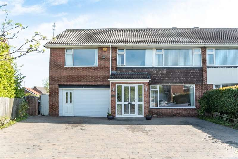 4 Bedrooms Semi Detached House for sale in Caynham Close, New York, North Shields