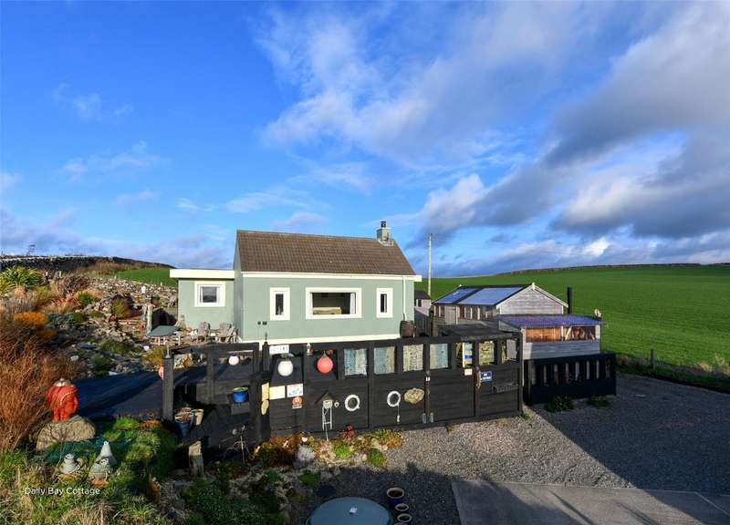 2 Bedrooms Detached Bungalow for sale in Dally Bay Cottage, Kirkcolm, Stranraer, Dumfries and Galloway, South West Scotland, DG9