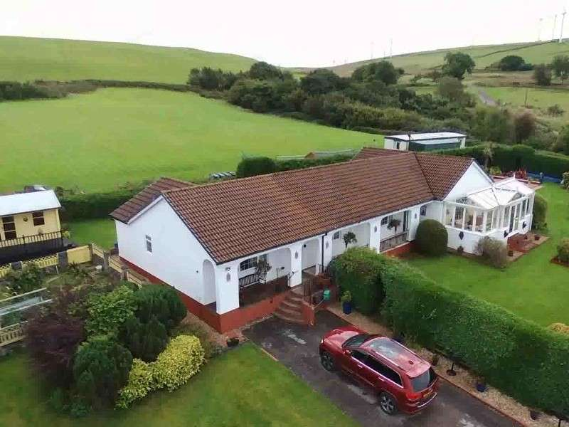 4 Bedrooms Detached Bungalow for sale in Ty Newydd Farm, Blackmill, Bridgend, Bridgend County. CF35 6EN