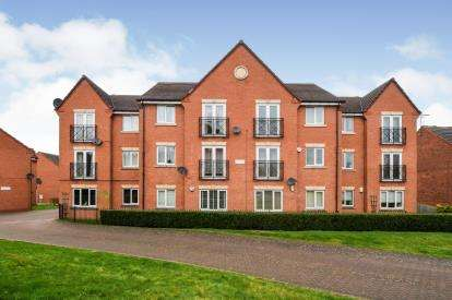 1 Bedroom Flat for sale in Barons Court, Barons Close, Kirby Muxloe, Leicester