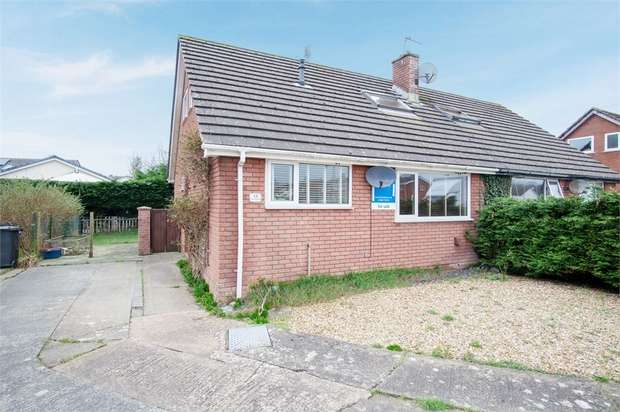 3 Bedrooms Semi Detached Bungalow for sale in Cae Gweithdy, Menai Bridge, Anglesey