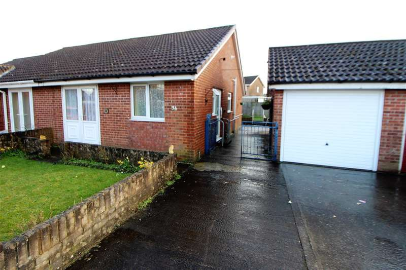 2 Bedrooms Semi Detached Bungalow for sale in Keats Road, Caldicot