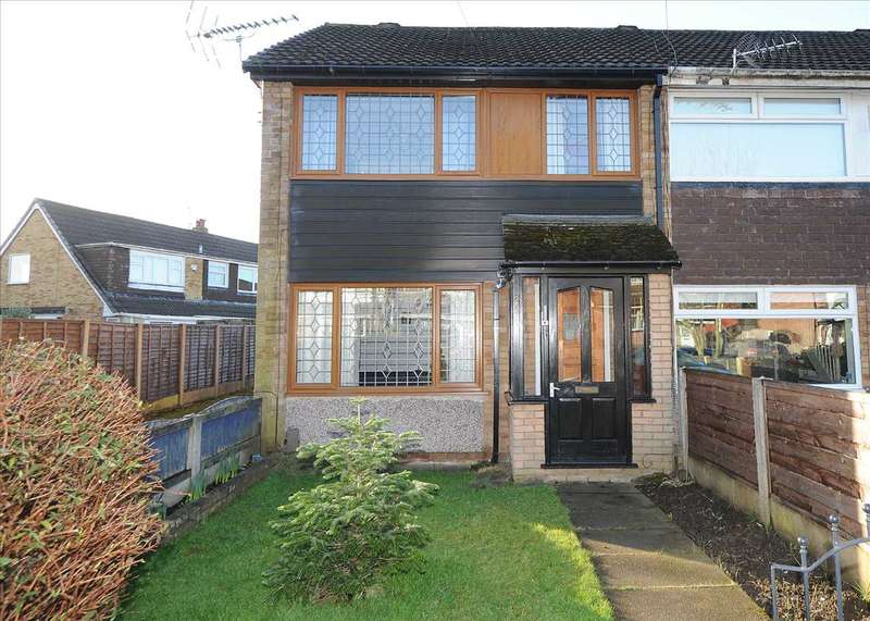 3 Bedrooms End Of Terrace House for sale in 25 Farnham Drive, Irlam M44 6DG