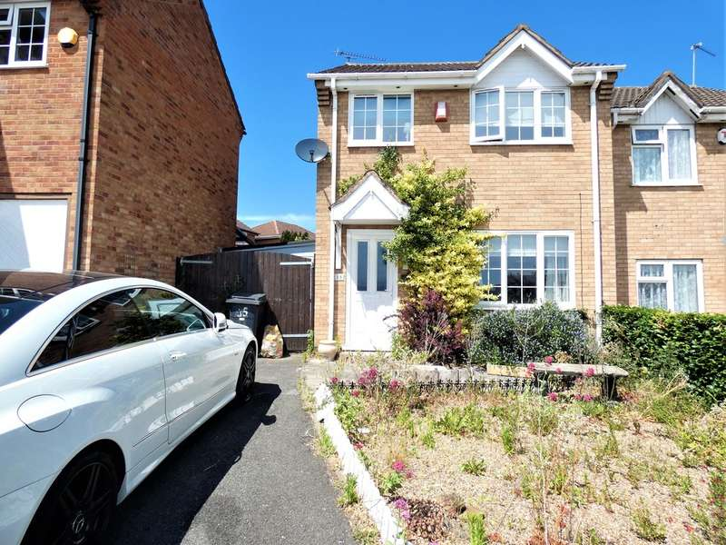 3 Bedrooms Semi Detached House for sale in Stadium Rise, Off Parker Drive, Leicester